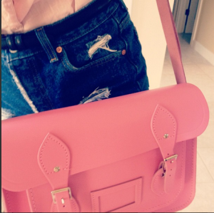 Pink 13 inch Classic Cambridge Satchel