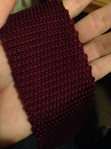 Frank and Oak's knit tie is woven with a thicker gauge and more bulk.