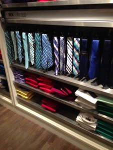 Lots of silk ties, not a lot of winter-weight texture.