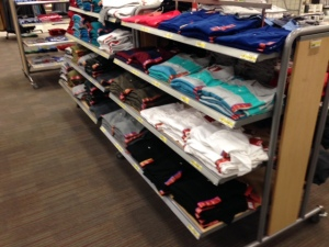 A look at some of Target's shirt selection.