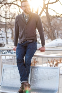 For the winter: A casual way to switch up the v-neck sweater.