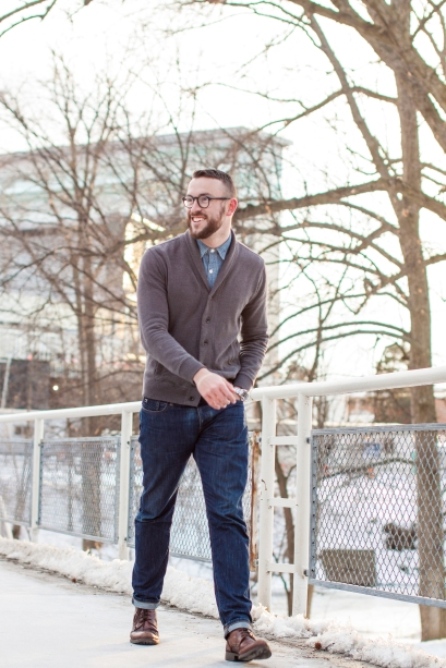 Changing up the winter routine with a newer outer layer. Jeans by Scotch and Soda. Shirt by J. Crew. Watch by Invicta. Boots by Stafford Camlin. All photos by Khoa Nguyen.