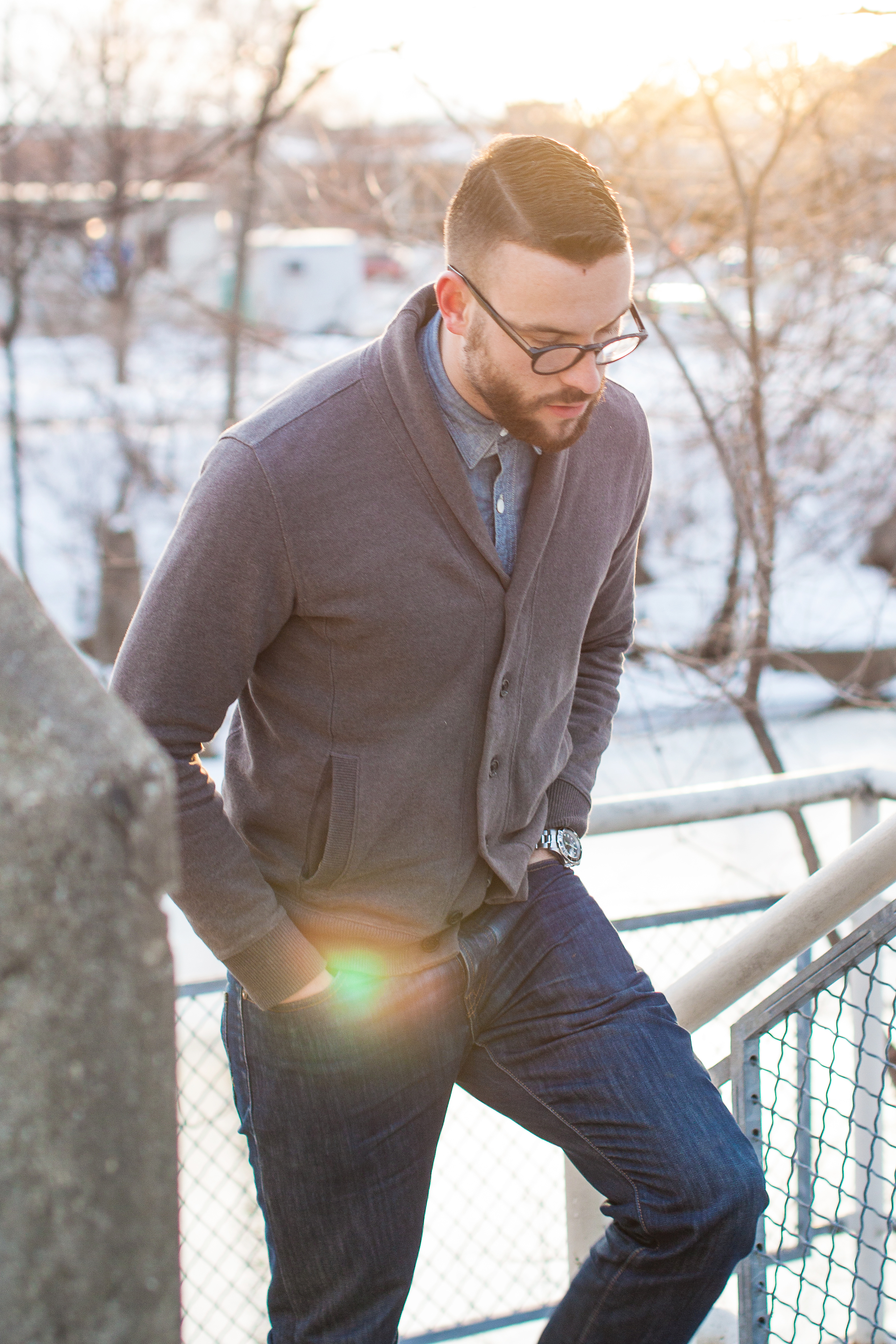 Winter Weather Style The Shawl Cardigan The Style Guide