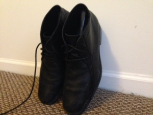 From the personal wardrobe — Calvin Klein black dress boots, snagged on eBay early last summer.