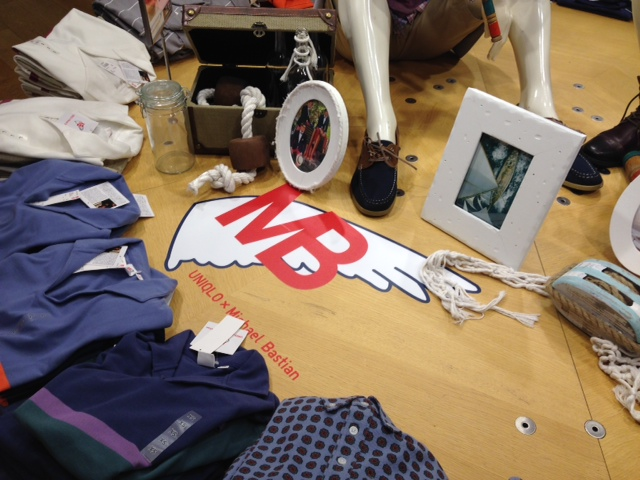 From inside the Broadway Avenue Uniqlo store.