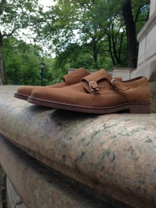 Banana Republic's Ryan Monk Strap in brown suede.