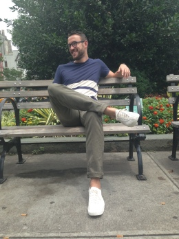 A great pair of white sneakers. T-Shirt by Bonobos. Jeans by Levi's. Watch by Stuhrling. Sneakers by Tretorn.