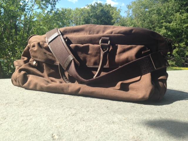 The Navali Stowaway Weekender bag in Carafe.