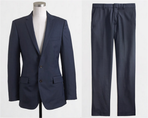 In a classic color like navy, this J. Crew Factory suit is worth the extra money.