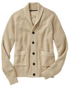 A fall (and winter) cardigan thanks to the shawl collar and cream color.