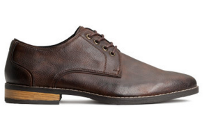 A basic brown dress shoe that would work for most business-casual situations.