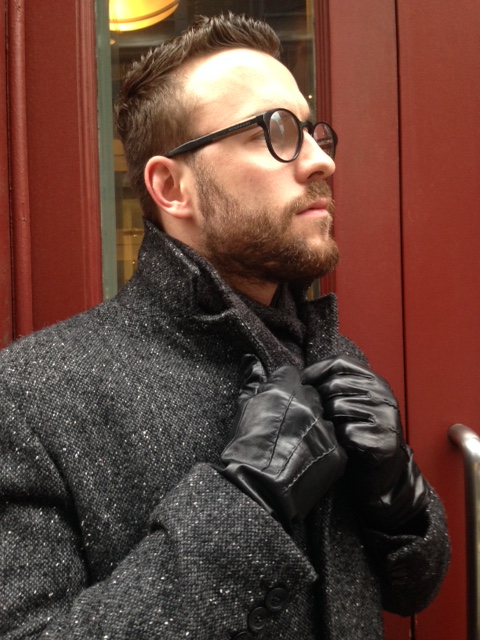 Ready for the cold weather (hopefully). Scarf by J. Crew Factory. Overcoat by Kenneth Cole. Gloves by Target Merona.