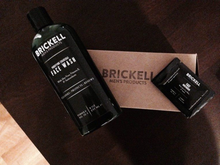 Charcoal face wash on the left, with a moisturizer sample on the right.