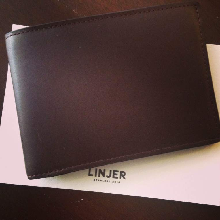 The first-ever mocha billfold from Linjer Leather Goods.