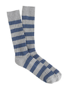 The ribbed texture and simple stripes on these socks go a long way toward their versatility.