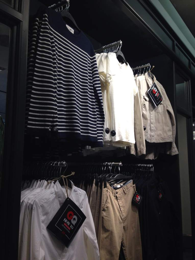 Beckham's collection has the basics covered from striped shirts to a tan denim jacket.