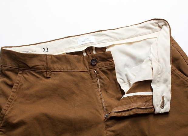 The Standard Issue Utility Chino from Apolis offers the right color and fit for easygoing, polished travel style.