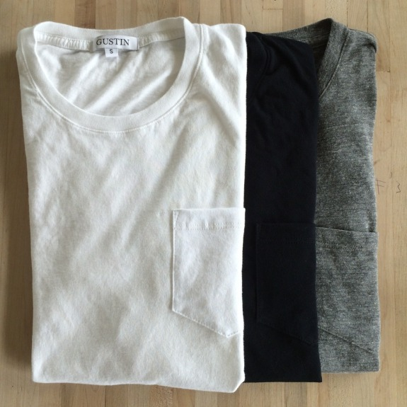 Three colors of this pocket T-shirt were available in the first run. Photo courtesy of Gustin.