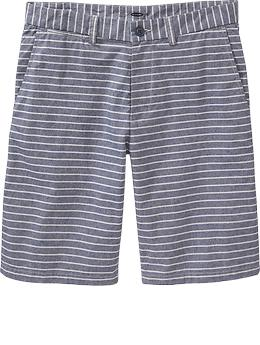 They should fit pretty trim, and the stripes are a nice touch … but that inseam could be a tad long.