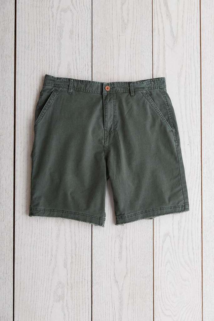 An olive color that's different than the typical navy or khaki, paired with a decent price.