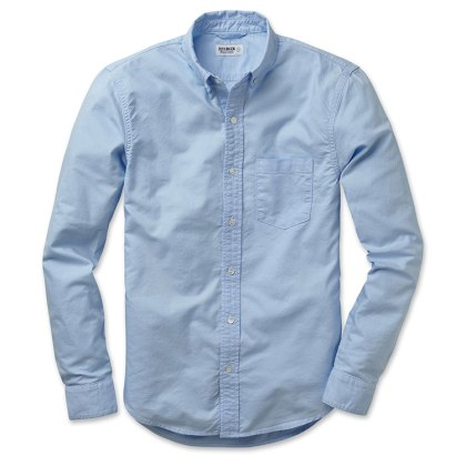 Versatile and ready for anything -- the classic blue Oxford cloth buttondown from Buck Mason.