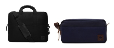 A twill briefcase in midnight and a line of dopp kits are also part of the brand's offerings. Available at www.jackandmulligan.com