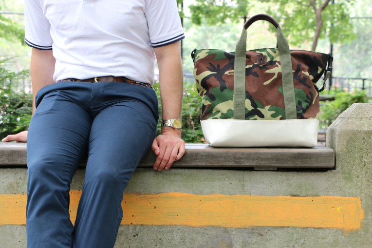 The eyecatching Thompson Tote. Photo courtesy Jack + Mulligan.