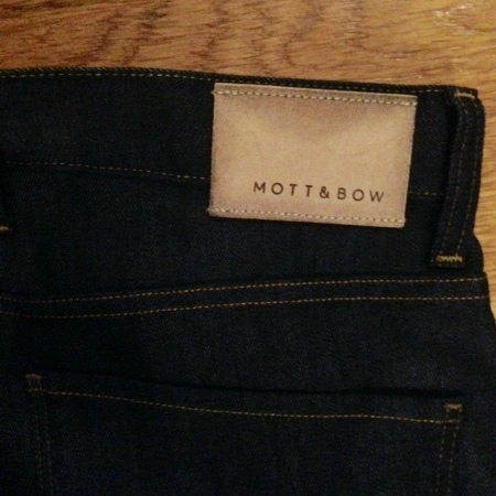 A sturdy leather patch and simple back pocket stitching complete this pair.