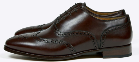 It doesn't get much more classic than a dark brown wingtip at a more premium price.
