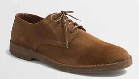 Dark tan suede + a rubber sole = an Oxford that wears like a desert boot.