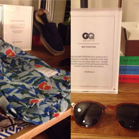 Some of the style essentials curated by Mr. Porter and GQ at the lounge.