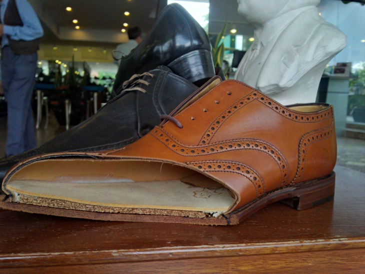 A good look at the anatomy of a Goodyear-welted shoe by Loake.