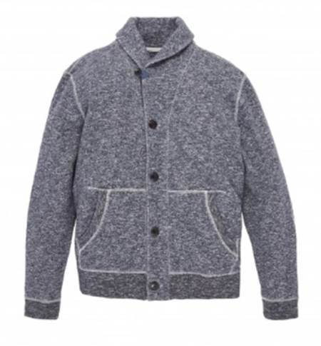 A hybrid cardigan that manages to meld casual details and versatile styling potential.