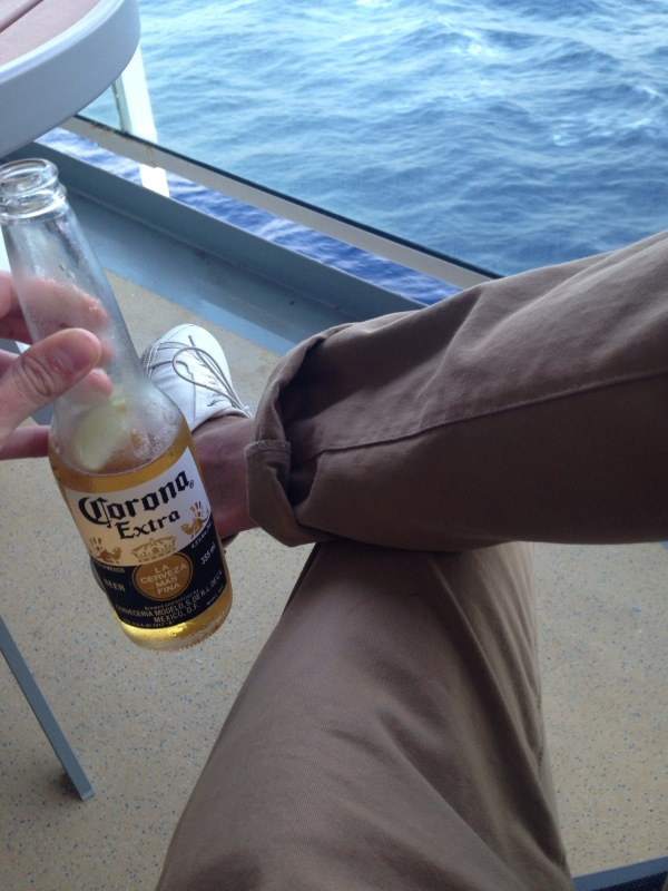 Another way to style these chinos, also from my travels to Italy and Greece. Corona not included. White sneakers by GREATS Brand.