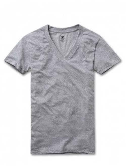 The Retro Fit Tri-Blend Heather Grey V-neck -- just one of several excellent undershirt options from RibbedTee.