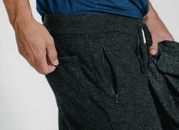 Features like side-zip pockets make these feel a bit different than your ordinary sweatpant.