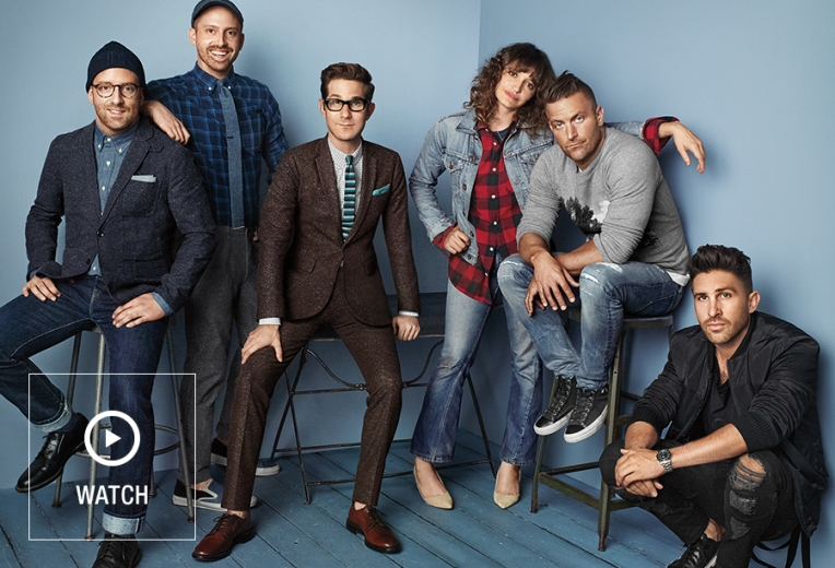 A snapshot of each designer involved in this year's GQ for GAP capsule collection effort. Left to right: Folks from The Hill-Side, David Hart, NSF and Stampd.