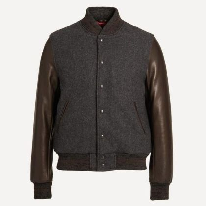 While not technically a leather jacket, this wool bomber from Frank & Oak gets the details right.