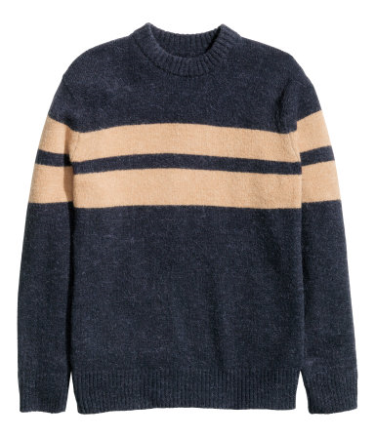 Two bold chest stripes and a deep navy color helped this sweater land at No. 2 on this list.