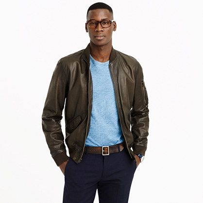A modern update to a classic style via J. Crew. That's exactly how your leather jacket should fit.