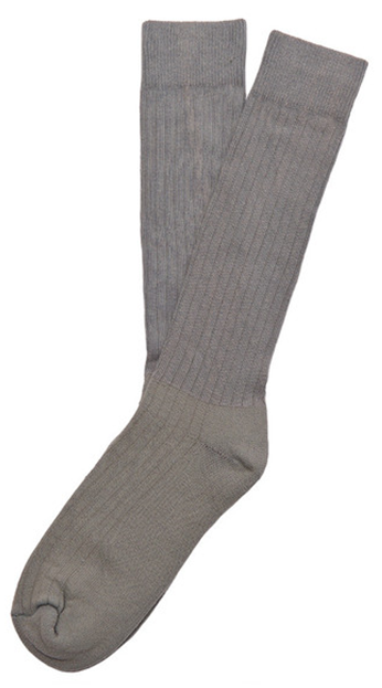 These simple grey dress socks are back again.