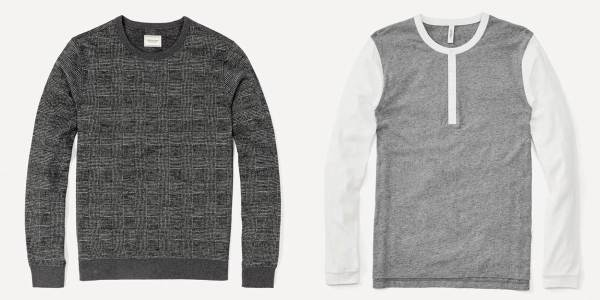 A glenplaid sweater and a colorblocked henley are but two of the picks you should look for from Frank & Oak.