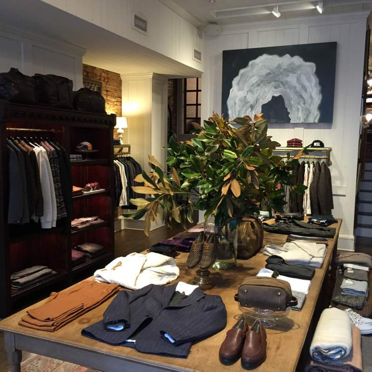 Inside the much-hyped Billy Reid store in the Georgetown neighborhood of DC.