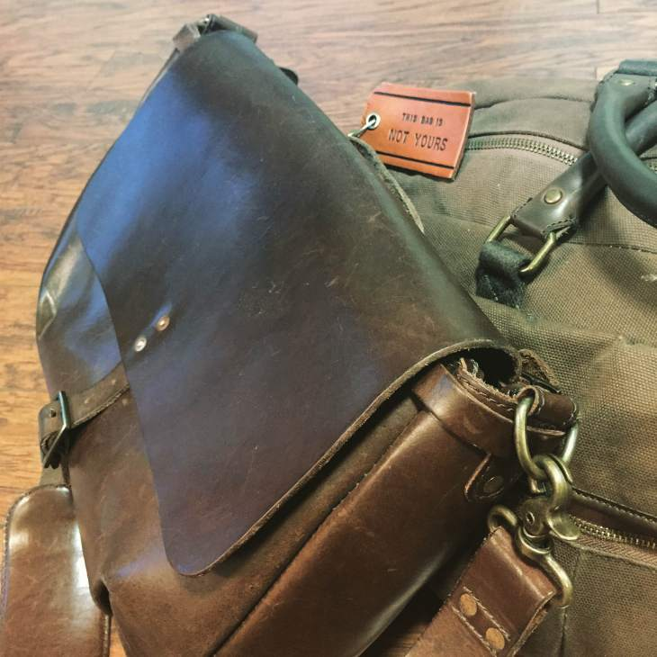 All ready to pack up next week? Slim Mailbag by Satchel and Page. Stowaway Weekender Bag by Navali.