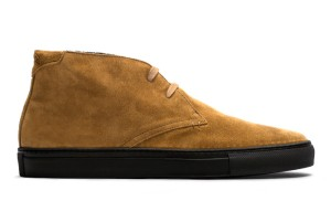 Camel plus black in a chukka silhouette = dressier sneakers than the norm.