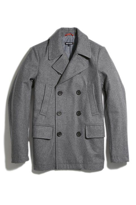 Slim, neutral and wearable with just about anything -- exactly what you should look for in a sharp peacoat.