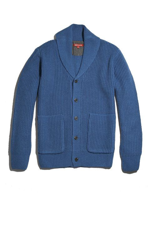 If Heather Grey isn't your speed, the Fisherman Cardigan also comes in what the brand calls Medium Blue.