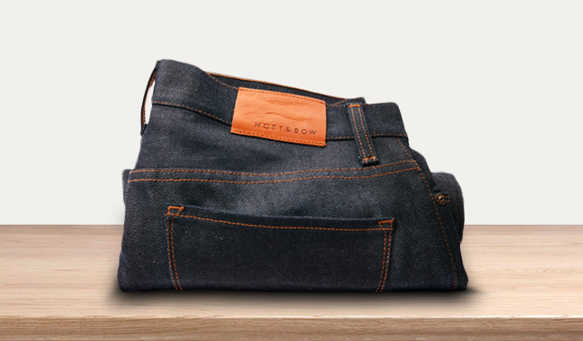 Raw denim -- heavy stuff fit for the winter.
