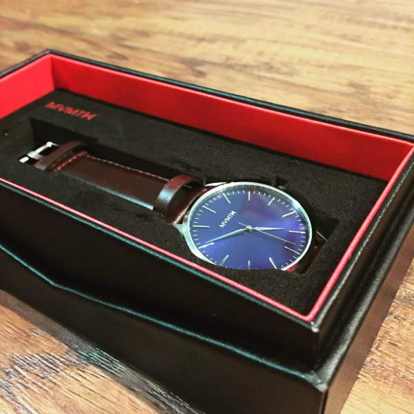 The storage case is also a nice added touch from MVMT Watches.