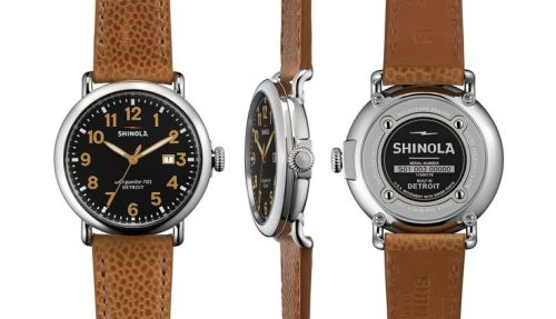A football leather strap and a crisp dial are excellent finishing touches for a stellar timepiece.